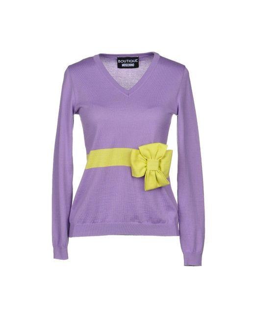 Boutique Moschino - Purple Jumper - Lyst