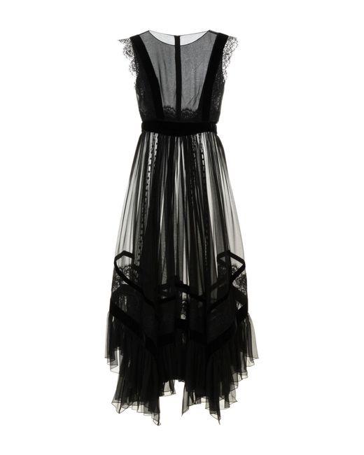 Alberta Ferretti - Black 3/4 Length Dress - Lyst