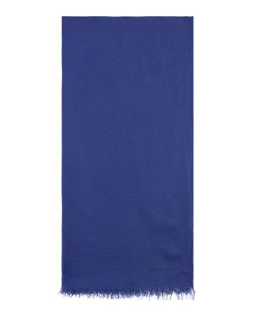 Giorgio Armani - Blue Oblong Scarf for Men - Lyst