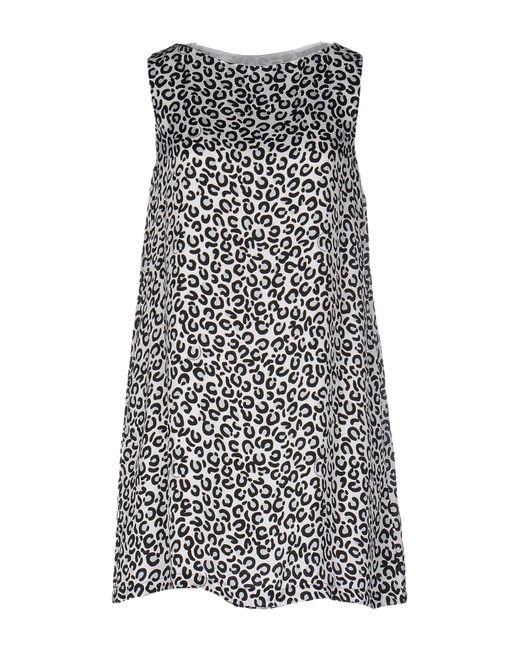 Love Moschino - White Short Dress - Lyst