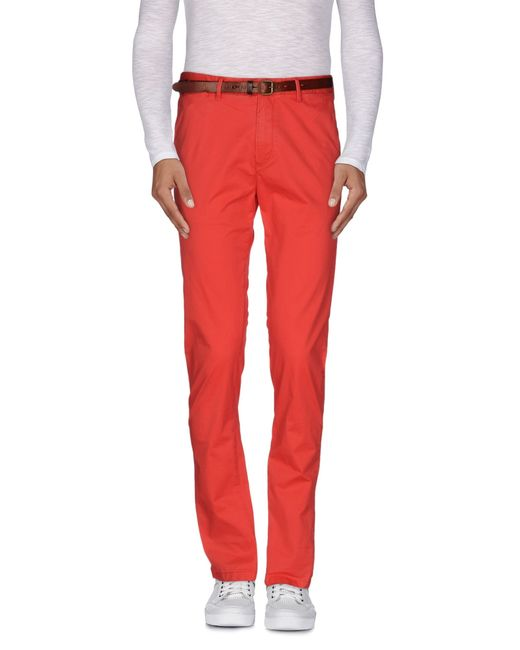 Scotch & Soda | Red Casual Pants for Men | Lyst