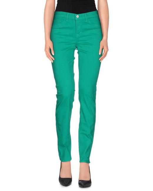 J Brand   Green Casual Pants   Lyst