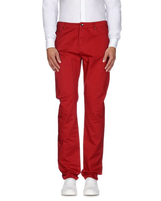 Geox | Red Casual Pants for Men | Lyst