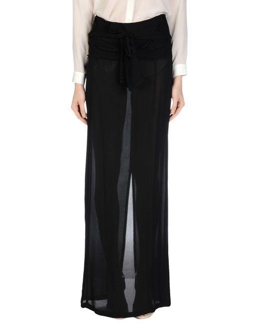 Ann Demeulemeester | Black Long Skirt | Lyst