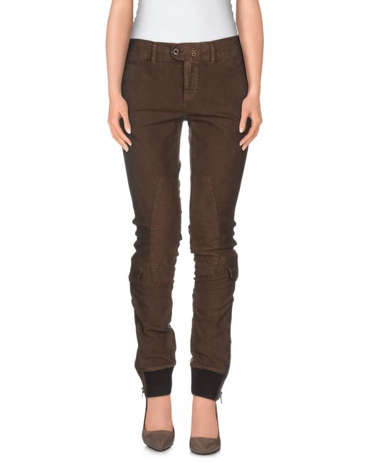 Ralph Lauren | Brown Stretch Legging | Lyst