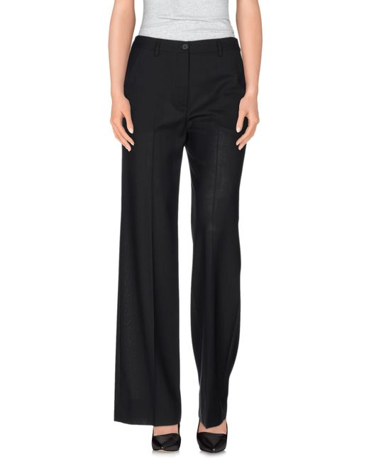 Maison Margiela | Black Cropped Tailored Trousers | Lyst