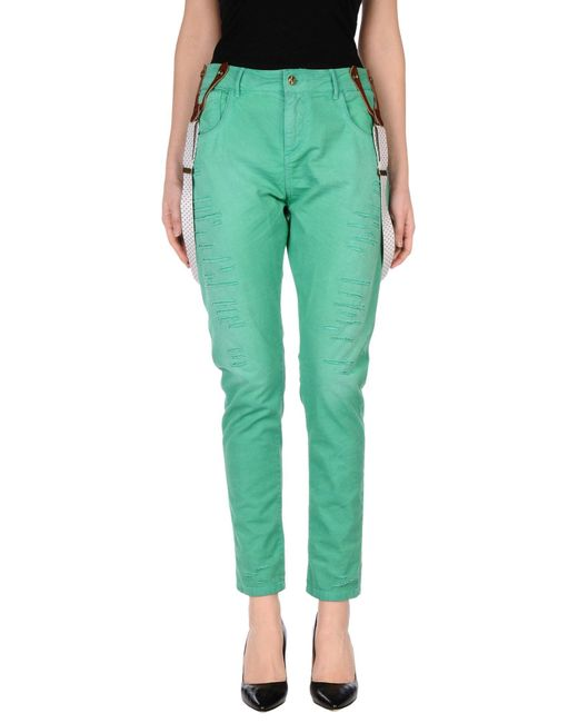 Manila Grace | Green Casual Trouser | Lyst