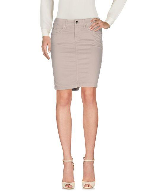 Liu Jo | Gray Knee Length Skirt | Lyst