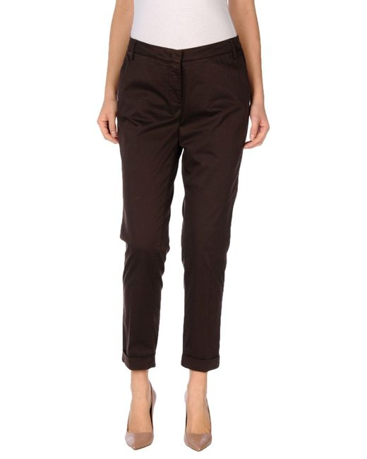 Manila Grace | Brown Casual Trouser | Lyst