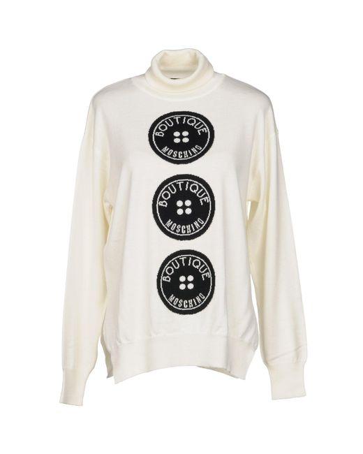 Boutique Moschino - White Turtlenecks - Lyst