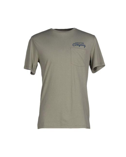 Brixton | Green T-shirt for Men | Lyst