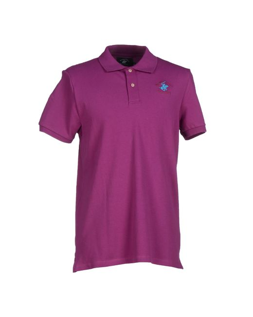Beverly Hills Polo Club | Purple Polo Shirt for Men | Lyst