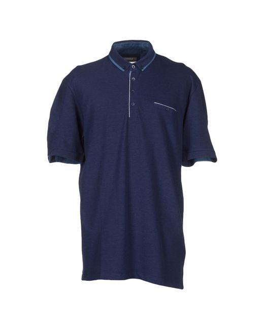 Andrea Fenzi | Blue Polo Shirt for Men | Lyst