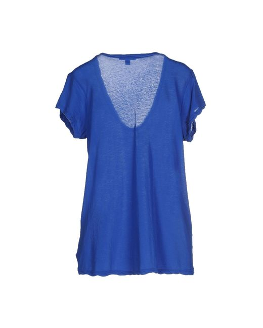 James perse t shirt in blue lyst for James perse t shirts sale