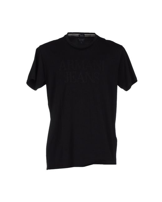 Armani Jeans | Black T-shirt for Men | Lyst