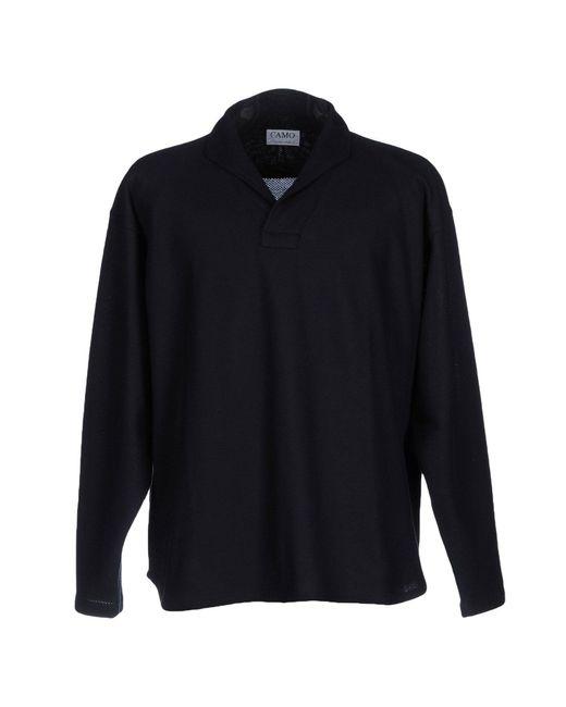 Camo polo shirt in blue for men lyst for Camo polo shirts for men