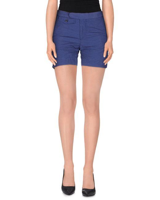 Incotex - Blue Shorts - Lyst