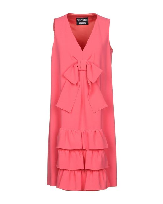 Boutique Moschino - Pink Short Dresses - Lyst