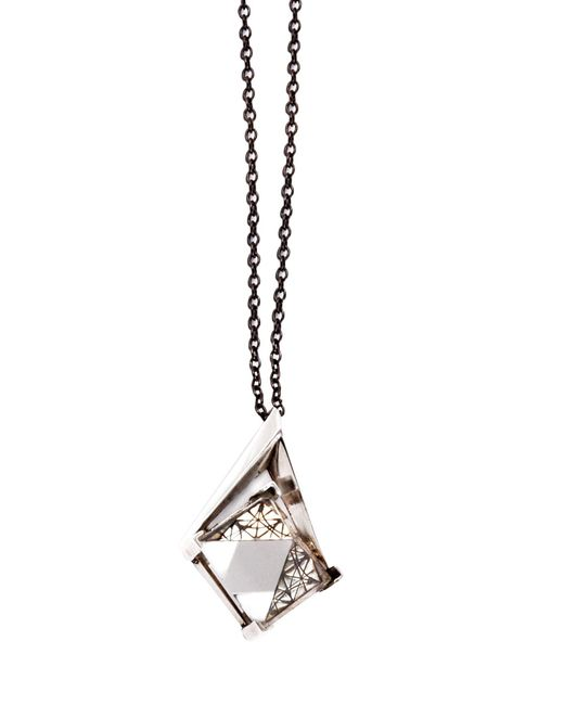 PAOLA GRANDE | Metallic Necklace | Lyst