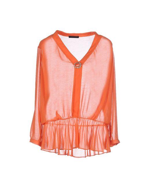 Pinko | Orange Blouse | Lyst