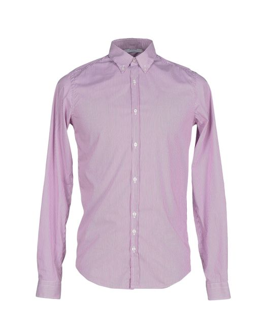 Aglini | Purple Shirt for Men | Lyst