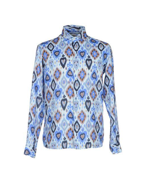 Drumohr | Blue Shirt for Men | Lyst