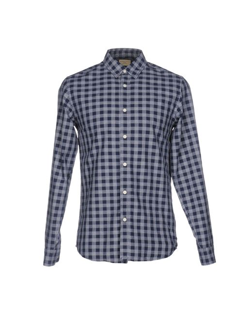 SELECTED | Blue Elected Homme Large Scale Gingham Shirt for Men | Lyst