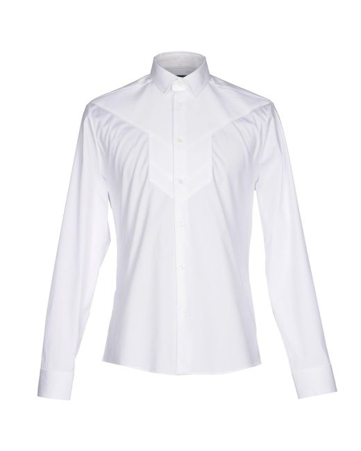 Les Hommes | White Shirt for Men | Lyst