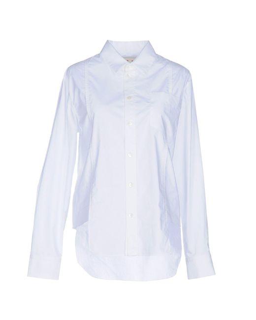 Marni   White Shirt   Lyst