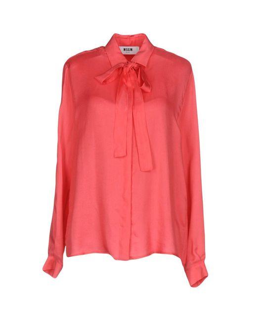 MSGM | Pink Shirt | Lyst