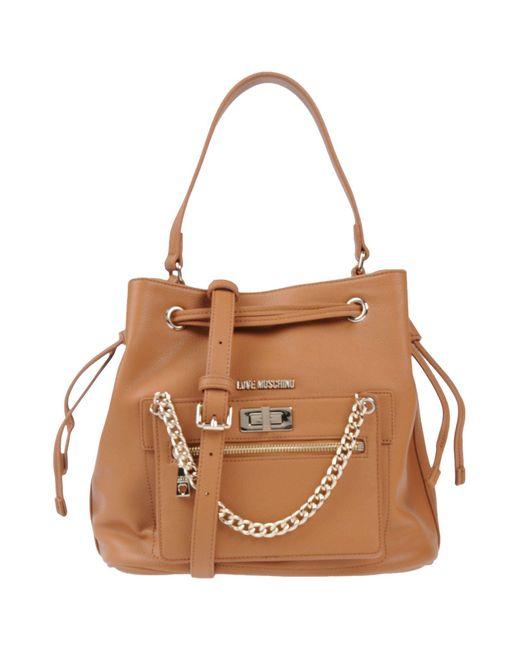 Love Moschino - Brown Handbags - Lyst