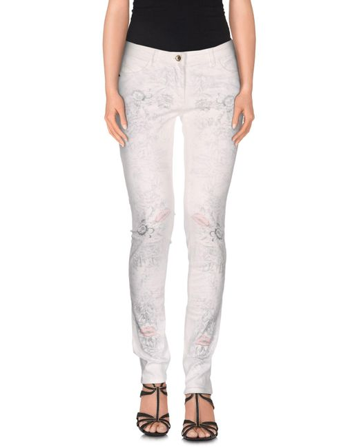 Patrizia Pepe - White Denim Pants - Lyst