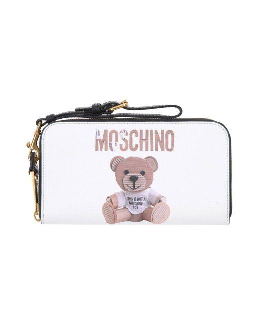 Moschino - White Wallet - Lyst