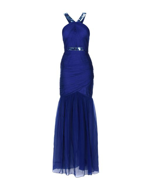 Matthew Williamson - Blue Long Dress - Lyst