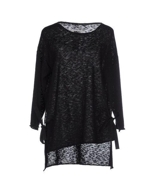 MM6 by Maison Martin Margiela | Black Sweater | Lyst