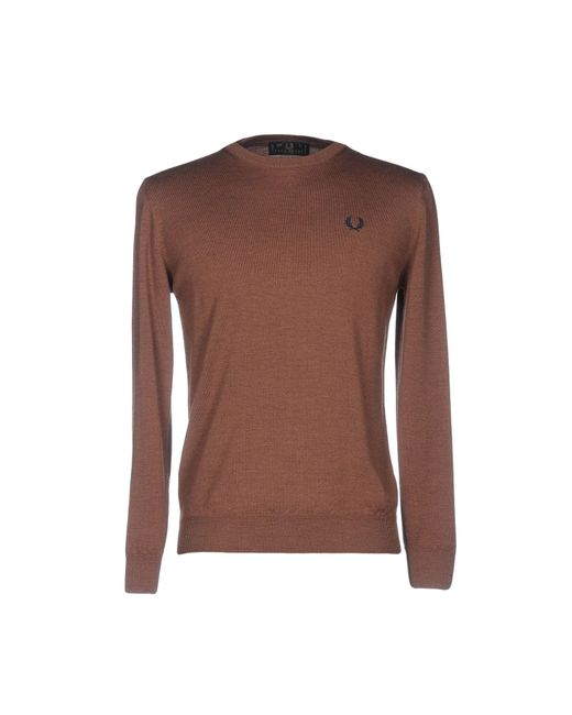 Fred Perry | Brown Jumper for Men | Lyst