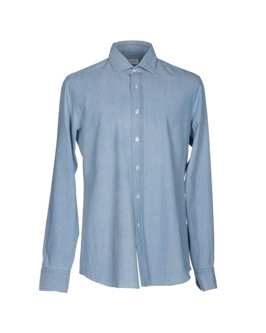 Salvatore Piccolo - Blue Denim Shirt for Men - Lyst
