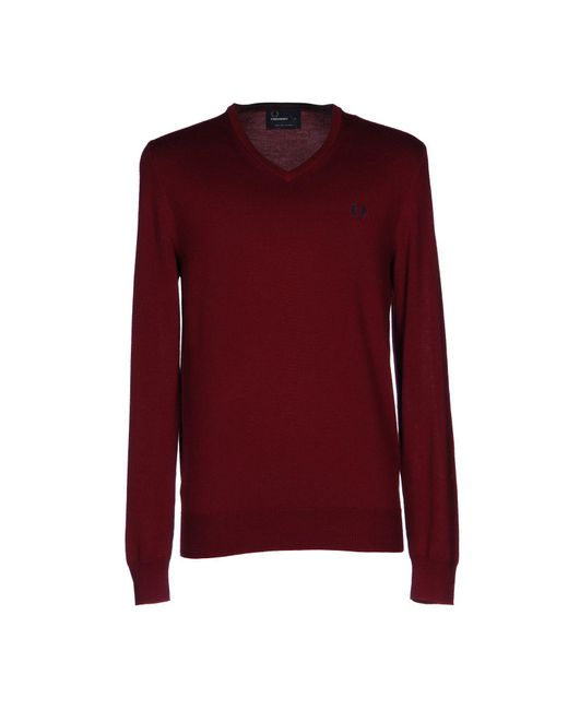 Fred Perry | Red Jumper for Men | Lyst