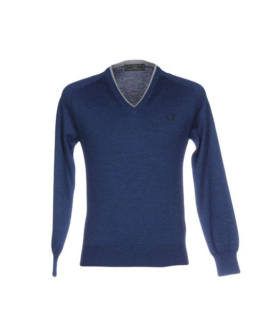 Fred Perry | Blue Sweater for Men | Lyst
