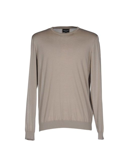 Giorgio Armani | Natural Sweater for Men | Lyst