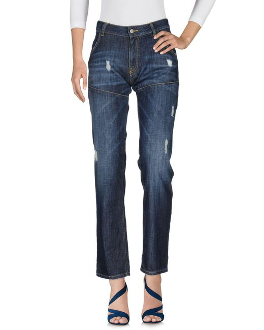 Manila Grace - Blue Denim Pants - Lyst
