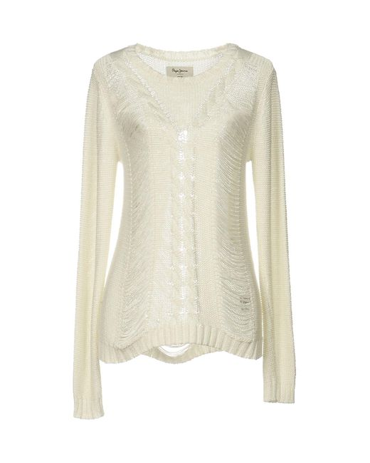 Pepe Jeans - White Sweaters - Lyst