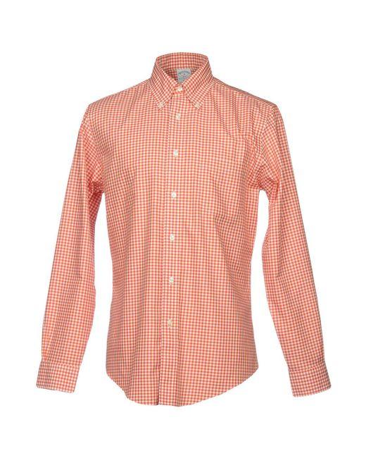Brooks Brothers - Orange Shirts for Men - Lyst