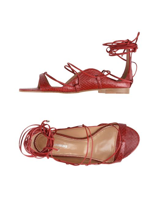 DSquared² - Red Sandals - Lyst