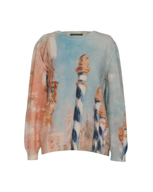 Alberta Ferretti - Green Sweater - Lyst