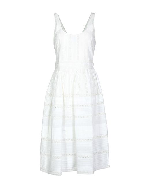 Alice + Olivia White 3/4 Length Dress