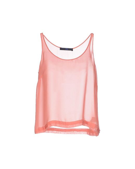 Blue Les Copains - Pink Tops - Lyst