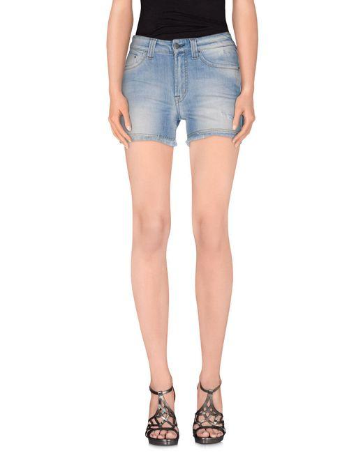 S.o.s By Orza Studio - Blue Denim Shorts - Lyst