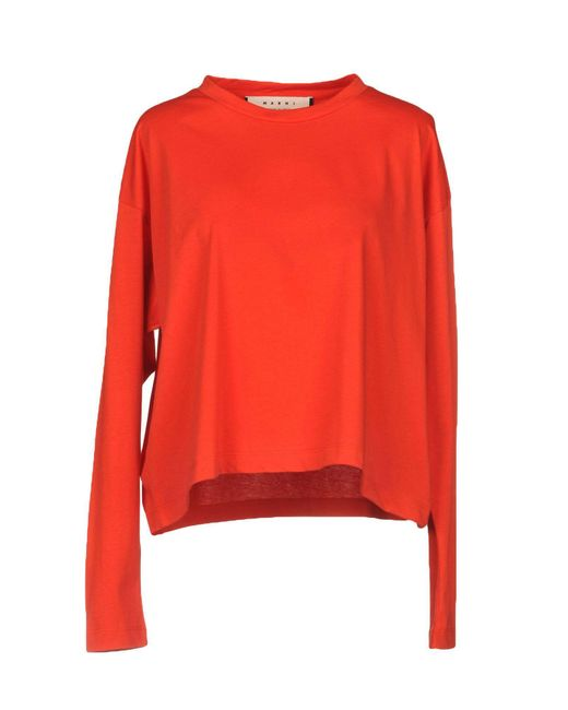 Marni - Red T-shirt - Lyst