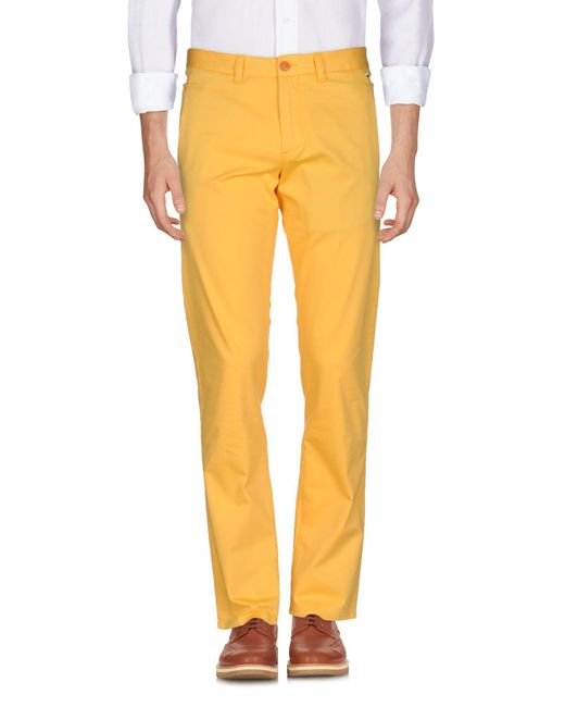 BOSS Green - Yellow Casual Pants for Men - Lyst